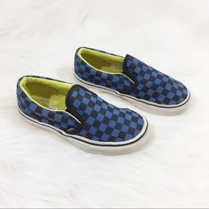 Vans, Blue & Black Checked, Size 13
